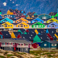 iceland greenland photo tour colour houses