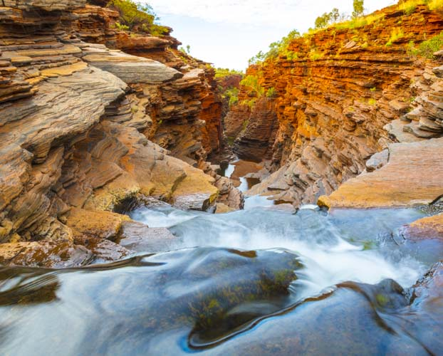 Karijini Ningaloo Photo Tour landscape falls