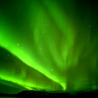 northern lights green norway aurora