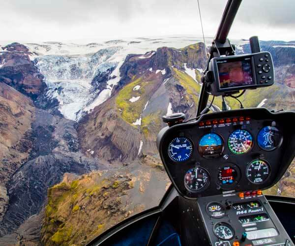 helicopter photography flight in iceland tour