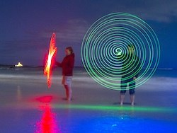 painting with light spiral drawing