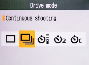 continuous shooting mode