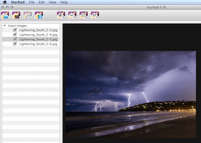 stacking lightning photos